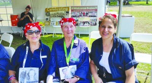 "From left: Original Rosie the Riveters Kay Morrison and Phyllis Gould, with Martinez City Councilwoman AnaMarie Avila Farias during the ""Rosie Rally"" Saturday, Aug. 15, at The Rosie the Riveter Memorial in Richmond, California. (COURTESY / On File)"