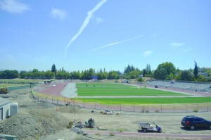 The College Park football field is currently being worked on while the Falcons continue to play their home games across the street at Diablo Valley College. (GERARDO RECINOS / Martinez Tribune)
