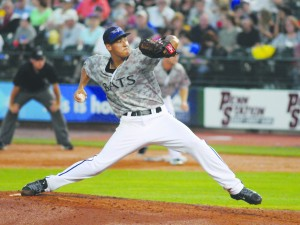 Former Alhambra Bulldog pitcher Robert Stephenson's right wrist strain may have just ended any talk of a September call up to the big leagues for the 2015 season. (PATRICK PFISTER / Louisville Bats)