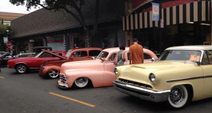 "Cars line up on Main Street to participate in the ""Madness on Main Street"" Car Show, Saturday, Sept. 12, 2015. (DONNA BETH WEILENMAN / Martinez Tribune)"