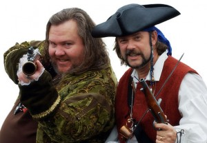 "Mark Summers (""Cap'n Slappy"") and John Baur (""Ol' Chumbucket""), founders of Talk Like a Pirate Day. (WIKIMEDIA COMMONS)"