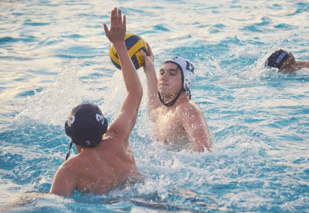 Alhambra junior Aiden Concepcion takes a shot in the Bulldogs' 12-8 win over Dougherty Valley on Wednesday, Oct. 14, 2015. ( DARREN CHAVEZ / Courtesy)