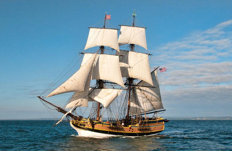 Lady Washington Under Sail At Sea The Tall Ship Will Pass Through Martinez Oct