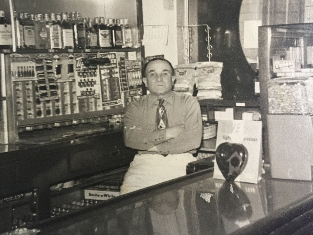 Pete Amato at Amato's restaurant, 407 Ferry St., Martinez, circa 1940. (MARY GOODMAN COLLECTION / Courtesy)