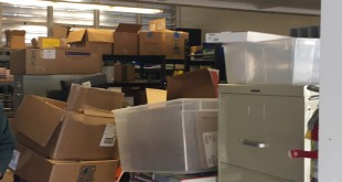 File cabinets and text books fill a classroom at Martinez Adult Education. Mothers speaking to the Martinez Unified School District Board of Education want the room for a Tot Time class. (MYKEL RODRIGUEZ / Courtesy)