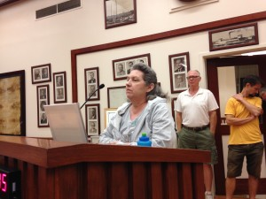 Sherry Lee speaks about her pending homelessness at last week's City Council meeting.  (DONNA BETH WEILENMAN / Martinez Tribune)