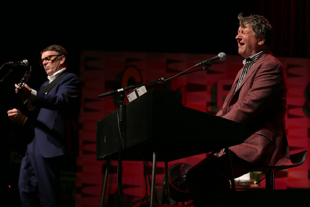 Chris Difford and Glenn Tilbrook (L-R) of Squeeze perform in Napa.