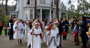 Children participate in the Las Posadas procession at John Muir National Historic Site (JMNHS) in Martinez during the 2014 festival. (HALE SARGENT, JUAN BAUTISTA DE ANZA NATIONAL HISTORIC TRAIL / Courtesy)
