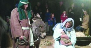 Mary and Joseph and the infant Jesus are portrayed at Morello Hills Christian Church's annual live nativity scene and re-creation of Bethlehem. (BILL FRANCIS / Courtesy)
