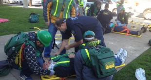 The Community Emergency Response Team (CERT) participates in a training activity. (COURTESY / On File)
