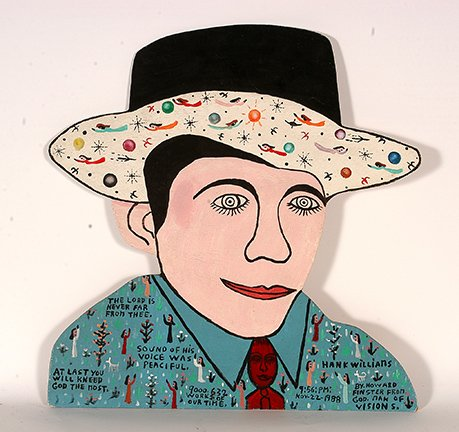 """Howard Finster's piece, """"Hank Williams."""" (COURTESY / On File)"""
