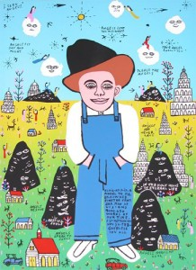 """Howard Finster's piece, """"Elvis at 3 is an Angel to Me."""" Finster's work will be on display at ARTU4iA, 725 Ward St., Martinez, this Saturday, Feb. 20. (COURTESY / On File)"""