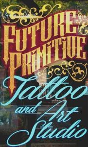 The decorative storefront of Future Primitive Tattoo and Art Studio, 516 Main St., Martinez. (HANNAH HATCH / Martinez Tribune)