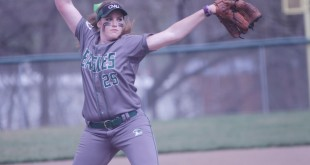 Alhambra alumnus and current Central Methodist pitcher Erin Enke threw a no-hitter against MidAmerica Nazarene on April 23. (CMU ATHLETICS / Courtesy)