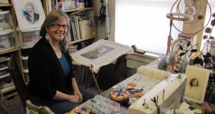 Susan Sharman in her creative space at home in Martinez. (HANNAH HATCH / Martinez Tribune)