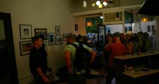The Blond Room Salon's Art Beat debut featuring artist Hazel Jean. (DANNY YOEONO / Martinez Tribune)