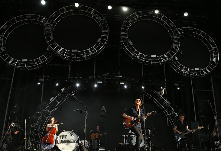 © DANIEL GLUSKOTER The Lumineers perform at BottleRock.