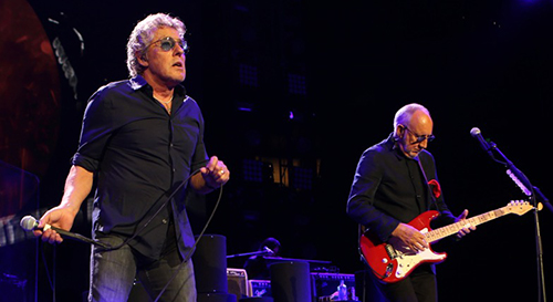 © DANIEL GLUSKOTER Roger Daltery and Pete Townshend of The Who perform in Oakland.