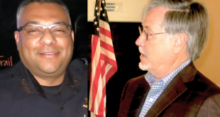 Martinez Police Chief Manjit Sappal (at left), and Contra Costa County Director of Medical Services Dr. William Walker. (PAUL CRAIG / Courtesy)