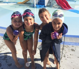 From left: Kara Dobrzensky, Parker Miles, MacKinnley Kirshen and Adelina Purewal having fun at the 8-and-Under Invitational on Sunday, June 5, 2016. (LAUREL PUREWAL / Courtesy)