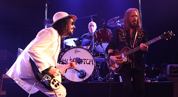 © DANIEL GLUSKOTER Mike Campbell, drummer Randall Marsh and Tom Petty of Mudcrutch perform at The Fillmore on Sunday night.