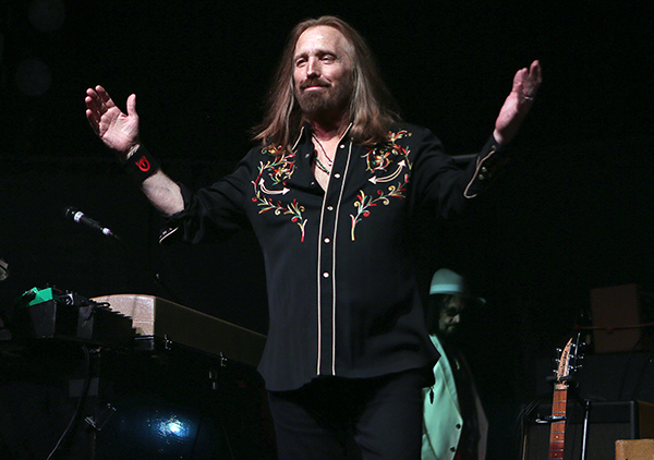 © DANIEL GLUSKOTER Tom Petty salutes the crowd at The Fillmore during Mudcrutch's Sunday night performance.