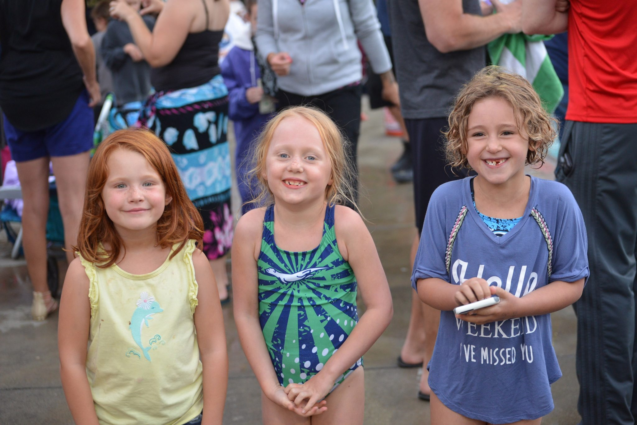 From left: Skyler Gately from Forest Hills, Maddie McKeown from MCST and Ella Cleland from Forest Hills find time to pose for the camera. (COURTESY / On File)