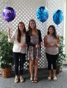Pleasant Hill-Martinez AAUW Local Scholarship recipients, from left:  Laura Maule of College Park High School, and Amy Moran and Joyce Figueroa of Alhambra High School. Not pictured: Taravat Lakzian of College Park High School. (COURTESY / On File)