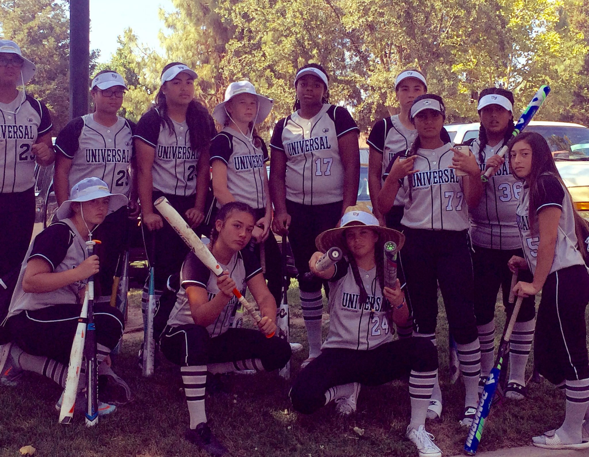 The Universal Sports Academy 14 & and under Fastpitch team traveled to Roseville this week to play for the Class A Western National Championship in Roseville, California. Playing for the Universal Sports Academy team are Tianna Bell, Jordan Blackmon, Madelyn Chambers, Shannon Kelly, Iabella Mendoza, Kira Nilson, Ashley Pye, Bailey Sample, Izabela Sanchez-Rodriguez, Karen Sepulvedo, Adriana Vasquez, Cierra Yeagar, Grace Own, Kaleena Yra and Charity Dumpit. (COURTESY / On File)