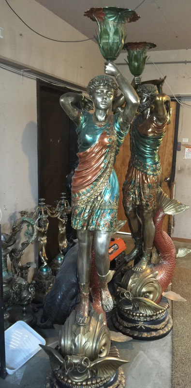 Unique items like these bronze statues were allegedly stolen from a residence in the 5000 block of Alhambra Valley Road. (CCCSO / On File)