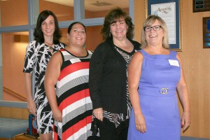 Teacher of the Year Finalists (from left): Gina Minder-Maldonado, Oakley Union Elementary School District; Summer Rodriguez, Liberty Union High School District; Shauna Hawes, Mt. Diablo Unified School District; Joyce Rooks, San Ramon Valley Unified School District. (JUNE STEPHENS, CCCOE / Courtesy)
