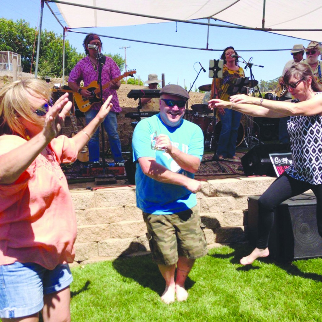 Participants of Viano Winery's first ever 'Music on the Vineyard' event in Martinez dance to live music. (BRUCE CAMPBELL / Courtesy)