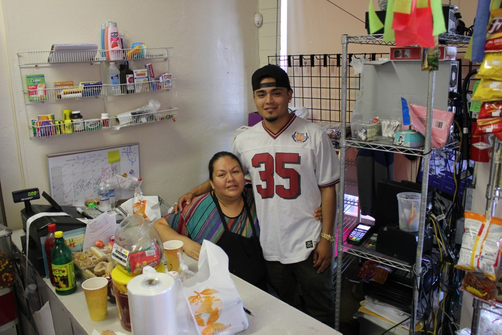 Edwin Cerda and his mother, Veronica Martinez, at their new restaurant, Taqueria Y Carniceria. Cerda graduated from Alhambra High School and has taken on restaurant ownership at age 19. The restaurant, a popular new favorite, is located at 3830 Pacheco Boulevard in Martinez. (DANNY YOEONO / Martinez Tribune)
