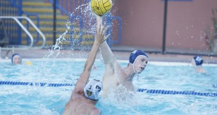 Alhambra junior Dylan Hammond takes a shot in the Bulldogs' 15-12 loss to the Bishop O'Dowd Dragons on Tuesday, Sept. 2, 2016. Hammond had four goals and two assists in the loss. (MARK FIERNER / Martinez Tribune)