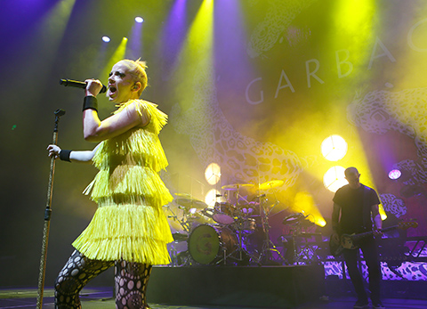 © Daniel Gluskoter Shirley Manson and Garbage perform at the Masonic in San Francisco Saturday night.