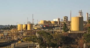 The Valero Refinery in Benicia, California, just across the bridge from Martinez. (WIKIMEDIA)