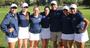 The Alhambra varsity girls golf team won their conference of the DAL. Members of the team (from right): Sydney Cave, Julia Quontomateo, Maddie George, Jordan Davis, Coach Dan Bilanow, Claire Jensen and Julia Lloren. (ON FILE / Courtesy)
