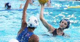 Bulldog senior Katie Christman had a goal in the Bulldogs' 9-6 loss to the Clayton Valley Charter-Concord Eagles on Oct. 26, 2016. (MARK FIERNER / Martinez Tribune)