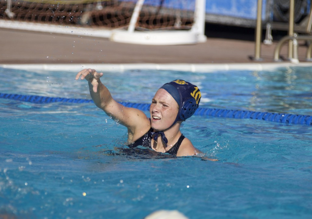 Alhambra freshman Kaylee Pond had five goals in the Bulldogs' 24-6 trouncing of the Hercules Titans on Wednesday, Oct. 5, 2016. Pond and Daria Dragicevic each had five to lead the Bulldogs. (MARK FIERNER / Martinez Tribune)