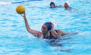 Bulldog senior Kelsey Ferguson takes a shot on goal in the Bulldogs' 17-3 win over the Pinole Valley Titans on Oct. 20, 2016. (MARK FIERNER / Martinez Tribune)