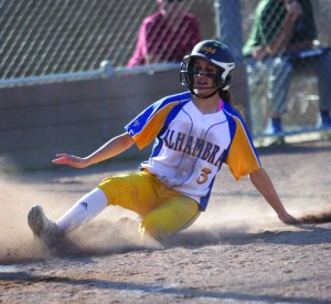 Alhambra senior Bri Perez was named the No. 1 player in the nation by FloSoftball after a stellar junior season where she went on to win her third North Coast Section title. The future UCLA Bruin was also recently invited to try out for the Junior US National Softball team. (MARK FIERNER / Martinez Tribune)