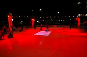 The DC Solar Downtown Holiday Ice Rink on opening night. (DANNY YOEONO / Martinez Tribune)