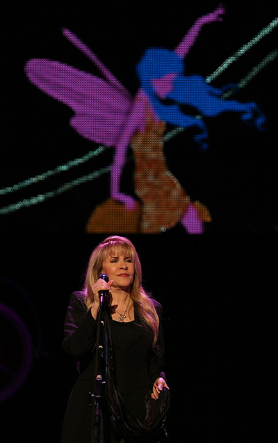 ©DANIEL GLUSKOTER Stevie Nicks performs at the Golden 1 Center in Sacramento Tuesday night.
