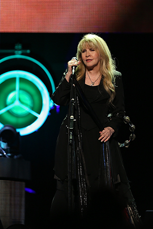 ©DANIEL GLUSKOTER Stevie Nicks performs at the Golden 1 Center in Sacramento Tuesday night .