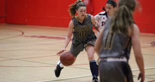Alhambra freshman Kaylee Pond had 14 points in the Bulldogs' 58-53 loss to the John Swett-Crockett Warriors on Wednesday, Nov. 30, 2016. The loss was the Bulldogs' first of the season. (MARK FIERNER / Martinez Tribune)