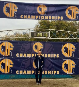 Alhambra junior runner Marissa D'Atri finished in 11th place in the State CIF Division IV race in a time of 18 minutes and 35 seconds. (ANGELA PARADISE / Courtesy)