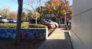 The site of the alleged attack in Main Street Plaza. (DANNY YOEONO / Martinez Tribune)