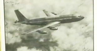 Gene's KC135. The photo is signed by his crew. (COURTESY / On File)