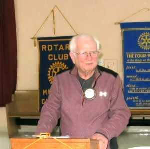 Gene Ross was the featured speaker at a recent meeting of the Martinez Rotary Club. (PAUL CRAIG / Courtesy)