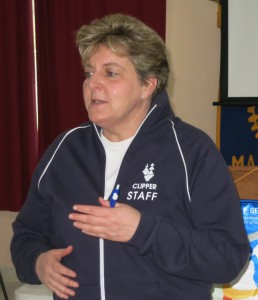 Gina Zagotta during a recent visit to the Martinez Rotary Club. (PAUL CRAIG / Courtesy)